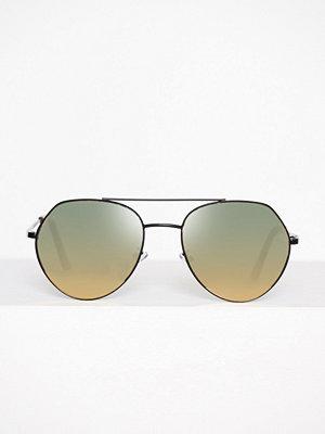 Solglasögon - Topshop Andi Angular Aviators Pink