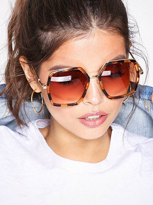 Solglasögon - NLY Accessories 70s Sunglasses Brown