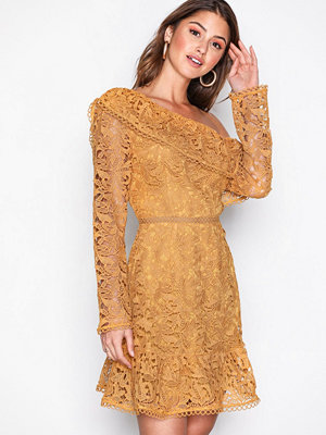 River Island Lace Dress Yellow