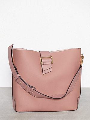 Topshop persikofärgad axelväska Buckle Hobo Bag Pink