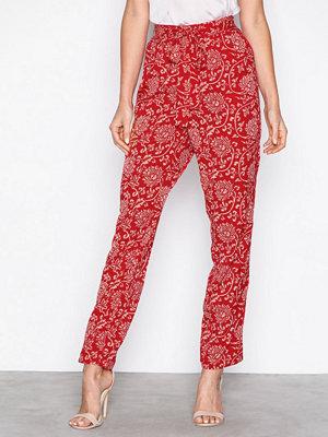Object Collectors Item röda byxor med tryck Objapala Mw Loose Pant a Ps Röd