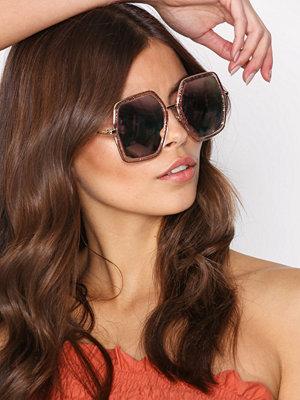 Solglasögon - NLY Accessories 70s Sunglasses Pink Glitter
