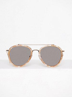 Solglasögon - River Island Silver Pearl Sunglasses Gold