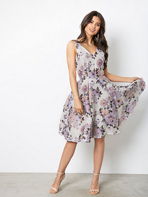Closet Floral Midi Dress Beige