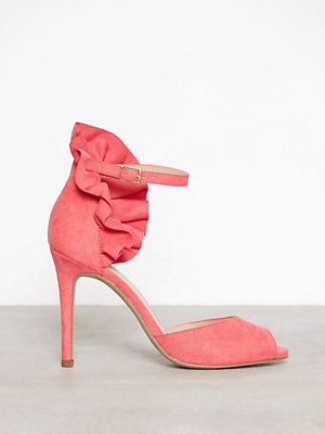 Bianco Fan Counter Sandal Coral Red