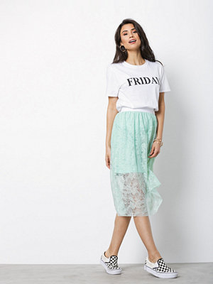 NLY Trend Lace Skirt Grön