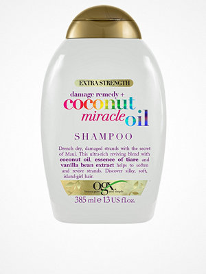 Hårprodukter - OGX Coconut Miracle Oil Shampoo 385ml Transparent