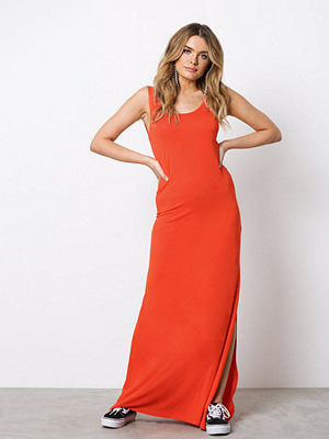 Vila Videana S/L Maxi Dress - Fav Orange