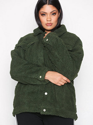 Missguided Oversized Trucker Khaki