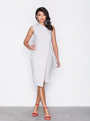 Closet One Shoulder Midi Dress Grey