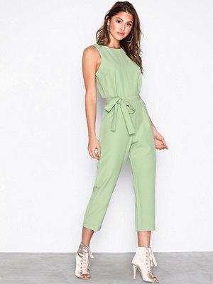 Glamorous Short Sleeve Jumpsuit Green