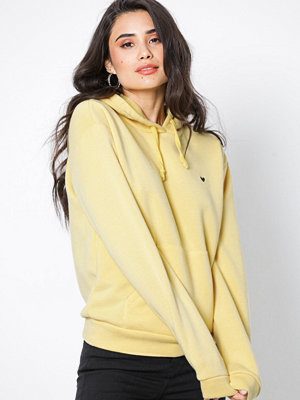 Topshop Embroidered Heart Hoodie Yellow