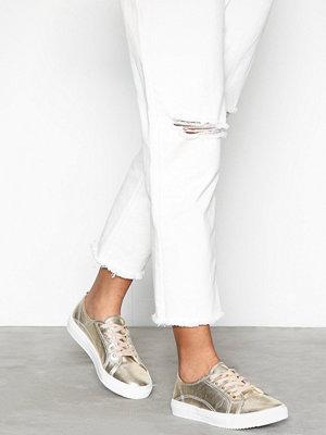 NLY Shoes Metallic Platform Sneaker Guld