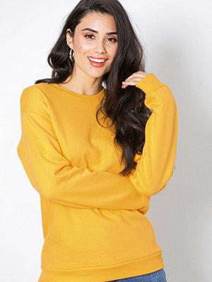Topshop Slouch Sweatshirt Yellow