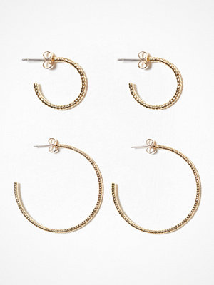 Pieces örhängen Pcgila Creol Earring Set Guld