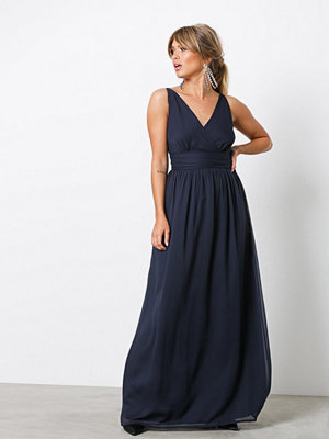 Vero Moda Vmjosephine Sl Maxi Dress Mörk Blå
