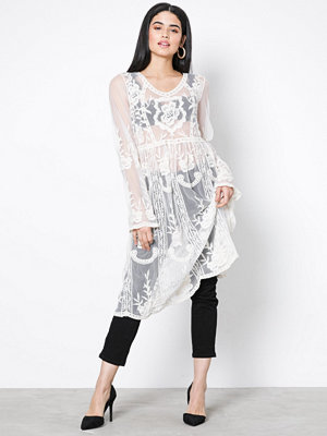 Missguided Lace and Crochet Dress White