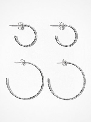Pieces örhängen Pcgila Creol Earring Set Silver