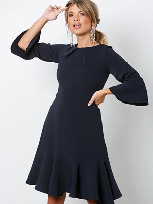 Closet Frill Sleeve A-Line Dress Navy