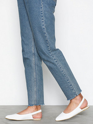 NLY Shoes Slingback Strap Ballerina Vit