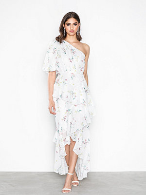 NLY Eve Dropped Frill Dress Mönstrad