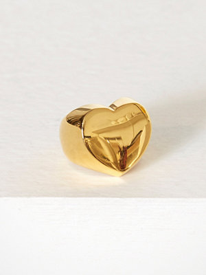 Blue Billie Heart Ring Guld