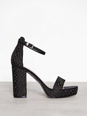 Topshop Sloane Woven Platform Sandals Black