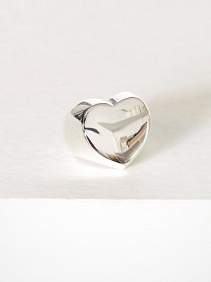 Blue Billie Heart Ring Silver
