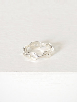 Blue Billie Chain Ring Silver