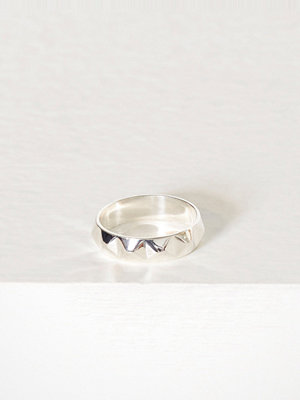Blue Billie Stud Ring Silver