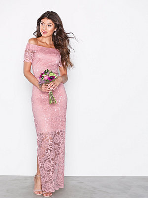 Vila Vizally Off Shoulder Maxi Dress/Dc Ljus Rosa