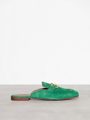 Tygskor & lågskor - Topshop Open Back Suede Loafers Green
