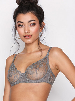 NLY Lingerie Wired Flower Bra Grå