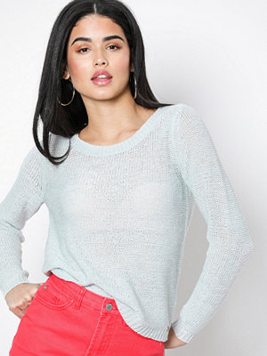 Only onlGEENA Xo L/S Pullover Knt Noos Ljus Blå