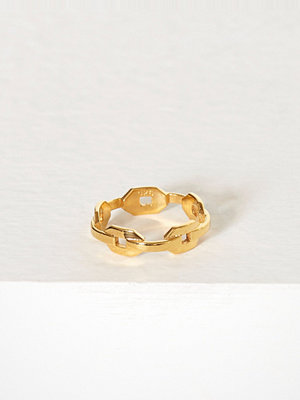 Blue Billie Chain Ring Guld