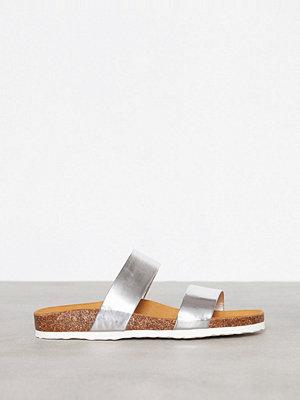 Tofflor - Bianco Twin Strap Slip In Silver