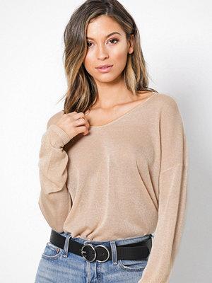 Only onlPISA L/S V-Neck Pullover Knt Noo Ljus Brun
