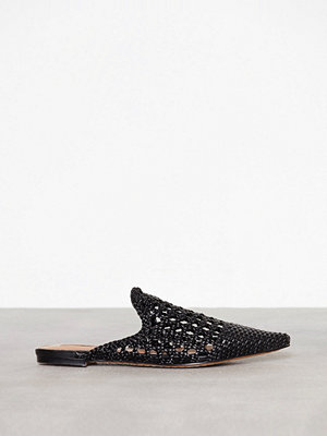 Topshop Knot Woven Mules Black