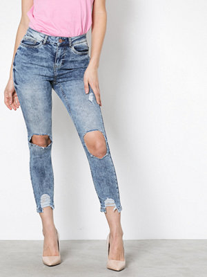 Noisy May Nmlexi Hw S.Slim Dest. Jeans VI129 Ljus Blå