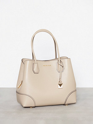 MICHAEL Michael Kors Mercer Gallery Md Center Zip Tote Beige