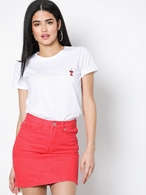 New Look Denim Mini Skirt Red