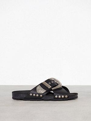 Topshop Buckle Footbed Sandals Black
