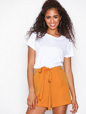 Y.a.s Yasclaire Bow Nw Shorts Mörkorange