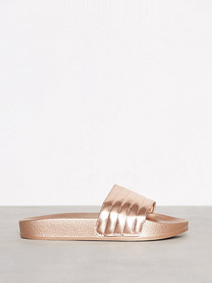 Duffy Metallic Slippers Rosegold