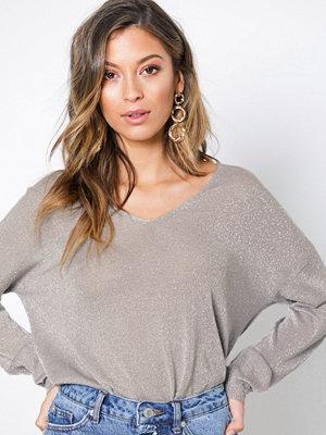 Only onlPISA L/S V-Neck Pullover Knt Noo Vit