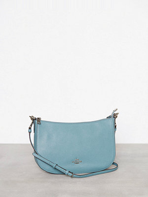 Coach himmelsblå axelväska Polished Pebble Lthr Chelsea Crossbody Marine