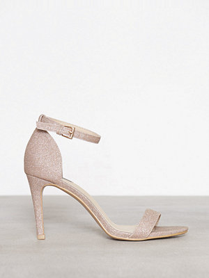 NLY Shoes Heel Sandal Glitter