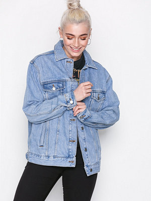 Topshop MOTO Oversized Denim Jacket Denim