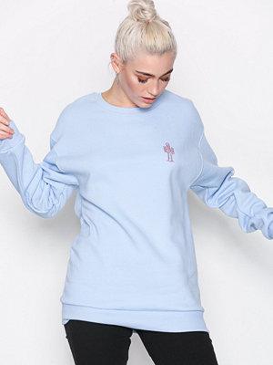 Topshop 'Wanderlust' Slogan Sweatshirt Blue