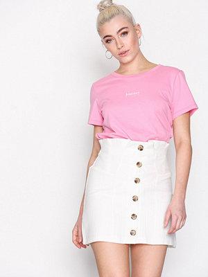 Topshop Button Through Mini Skirt Ivory